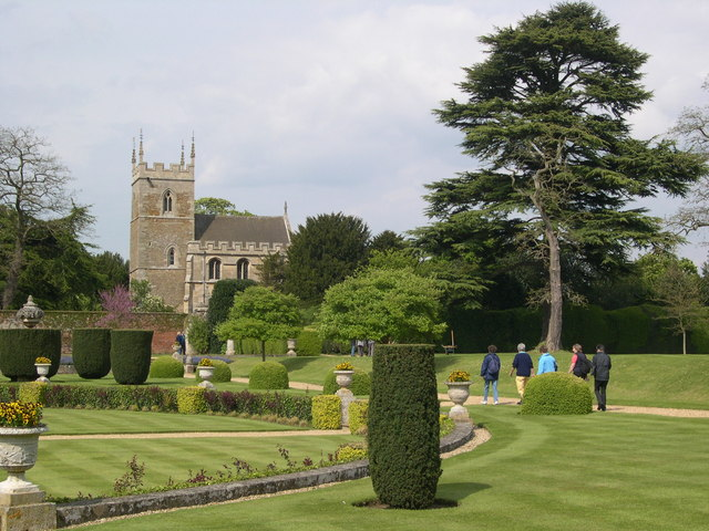 Belton Church from the gardens of Belton House