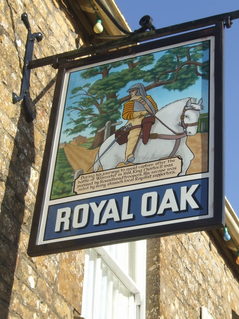 Pub sign at Royal Oak