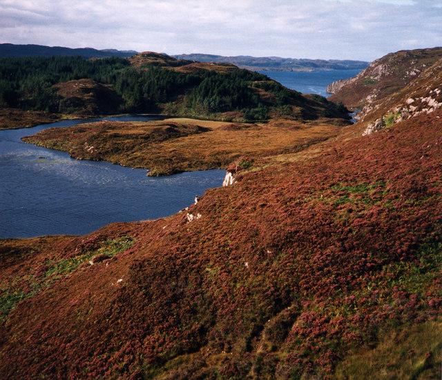 Loch Duartmore and Loch na Creige Ruaidhe beyond