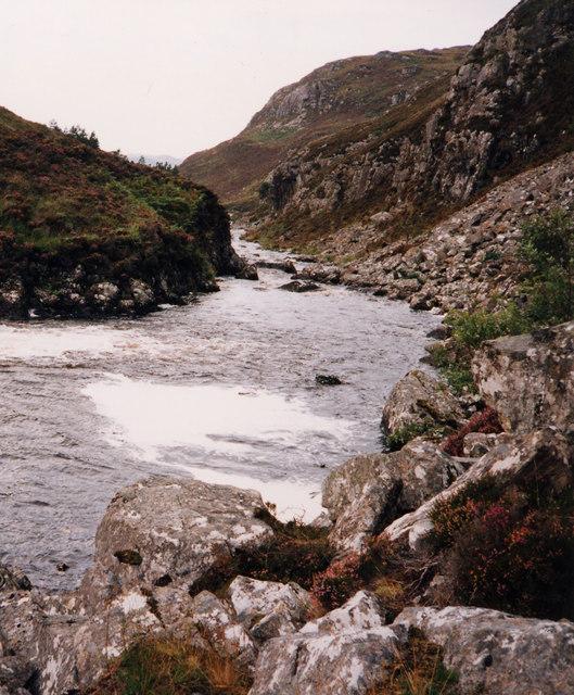 Duartmore Burn below the falls