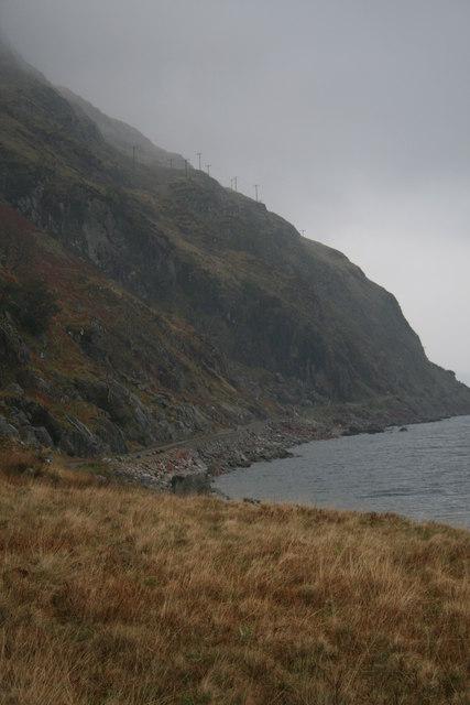 Sron na Maodalaich and road, near Glengalmadale