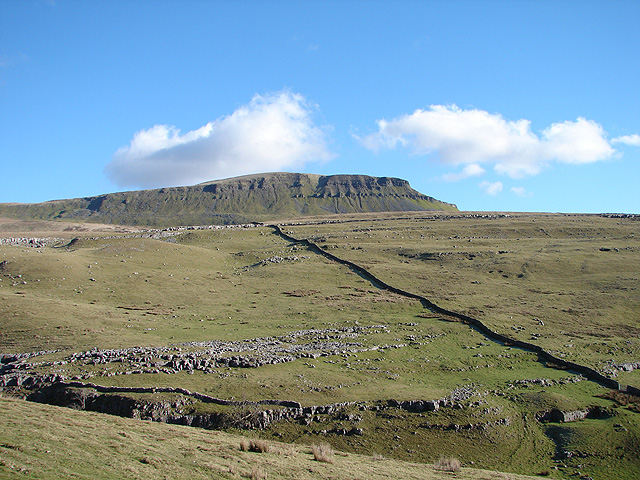 Pen-y-ghent viewed from Horton Scar