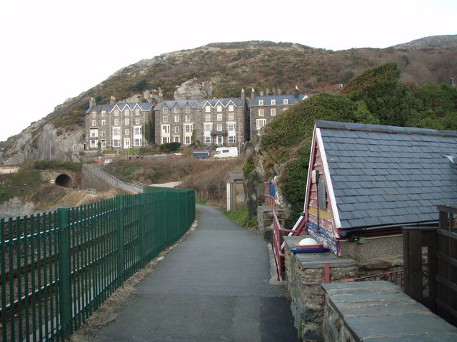 Porkington Terrace from the Old Lifeboat  Station
