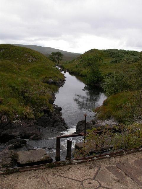 Outflow from Loch Tearnait