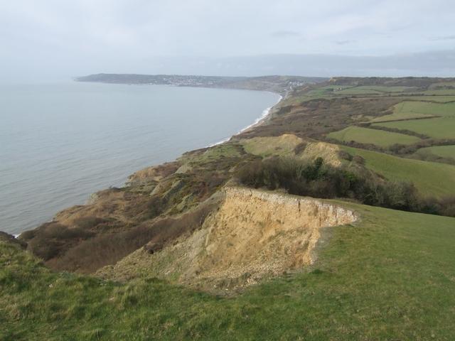 Disappearing cliff below Golden Cap