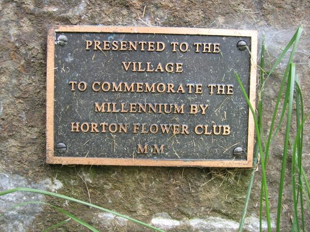 Millennium plaque at Horton in Ribblesdale