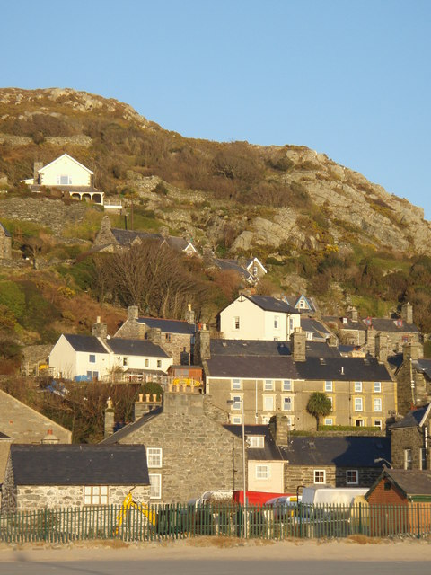 Barmouth Old Town (The Rock) from the seafront