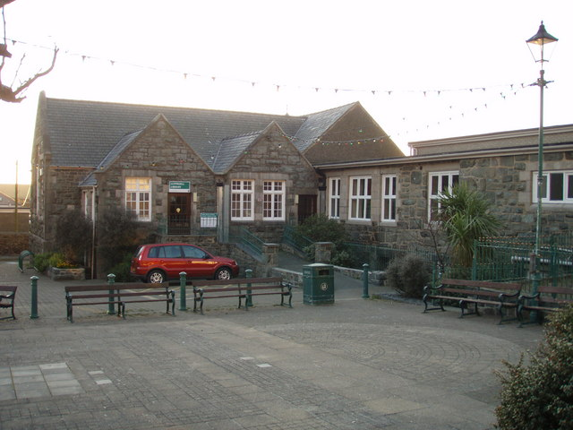 The old school/ library in King Edward St, Barmouth