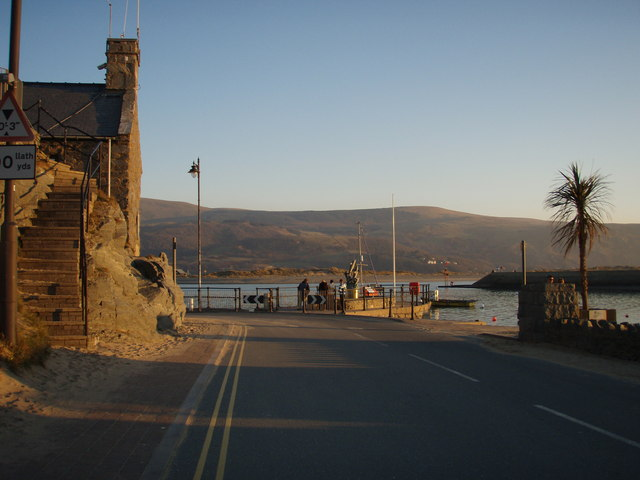 Barmouth Harbour at sunset