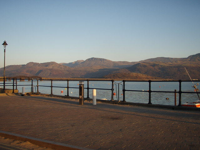 Barmouth Harbour from the Quay at sunset