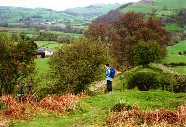 Offa's Dyke approaching Yew Tree Farm