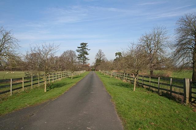 Hanley Hall Driveway