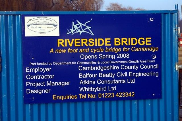 Riverside Bridge - notice