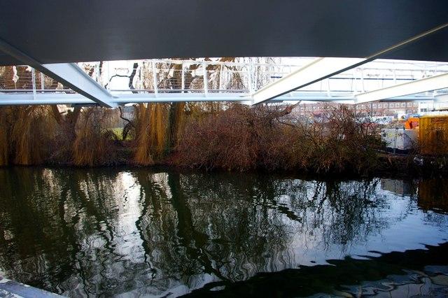 River Cam beneath new bridge