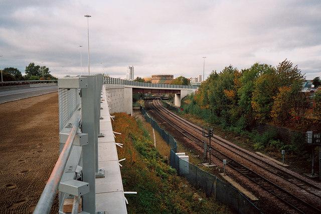 Moor Road Railway Bridge, Leeds Inner Ring Road Stage 7