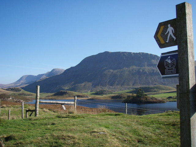 Cregennan Lakes, Tyrau Mawr and Cader Idris this way