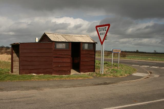 A rural bus shelter
