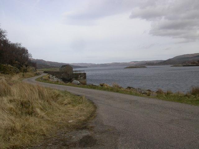 Jetty, Loch Sunart, near Laudale