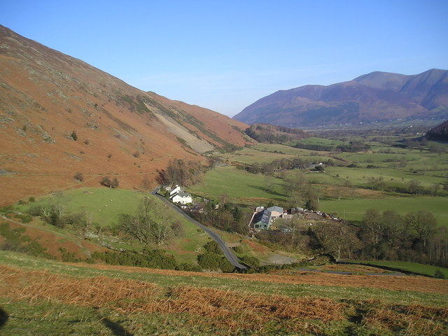 Looking down on Stoneycroft