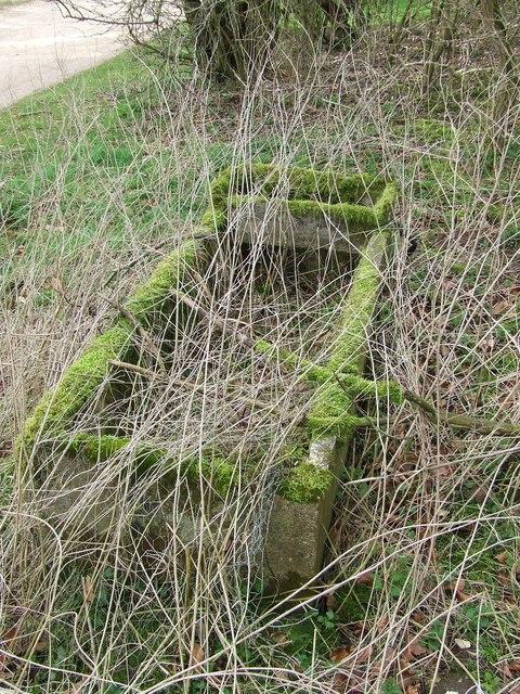 Old concrete trough