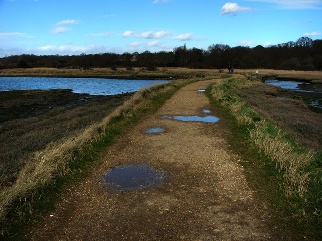 Footpath Warsash, heading towards Bunny Meadows