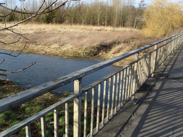 River Yare, upstream side, Harford Bridge