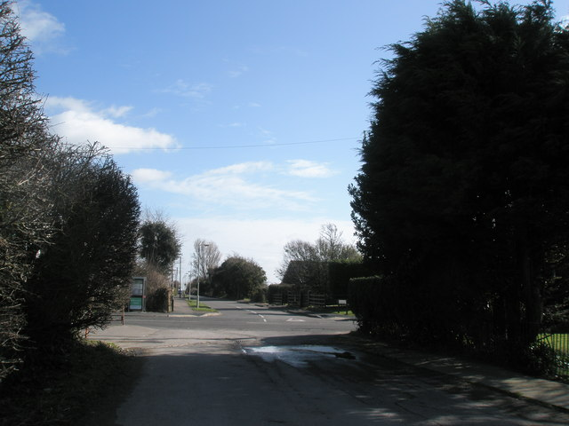 Modest crossroads at North Hayling