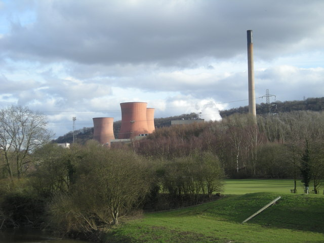 Ironbridge Power Station from the bridge at Buildwas.