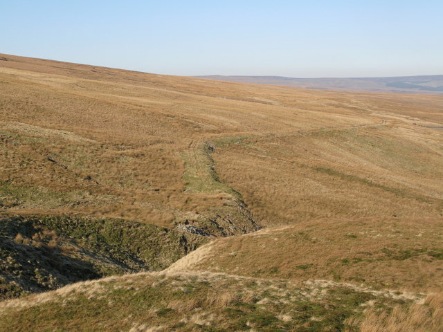 The cleugh of Long Sike and Harthope Moor