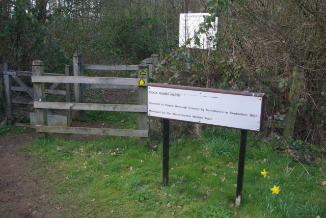 Entrance to Cock Robin Wood
