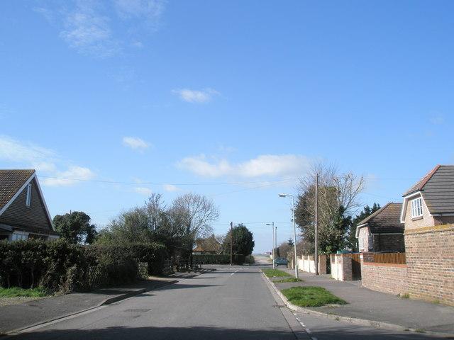 Looking eastwards up Victoria Road, North Hayling