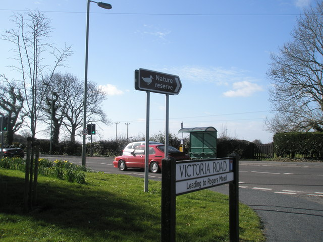 Junction of Victoria Road and the main road.