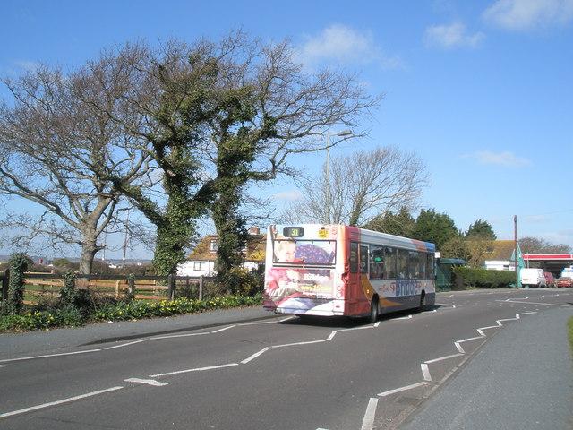 Bus heading towards Havant