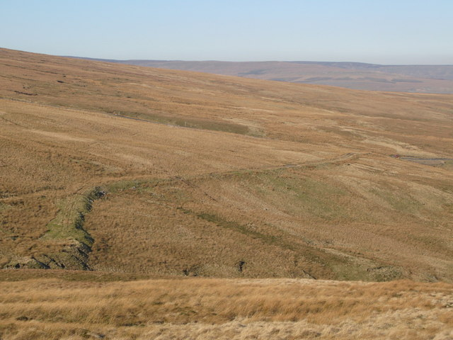 The cleugh of Long Sike and Harthope Moor (2)