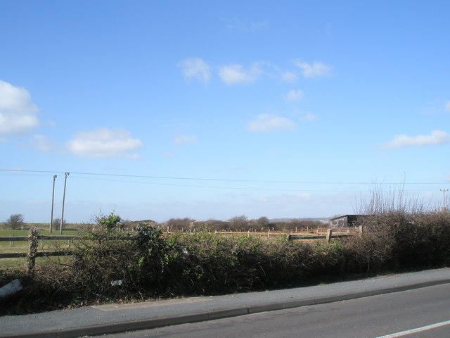 Fields behind the Havant Road at North  Hayling