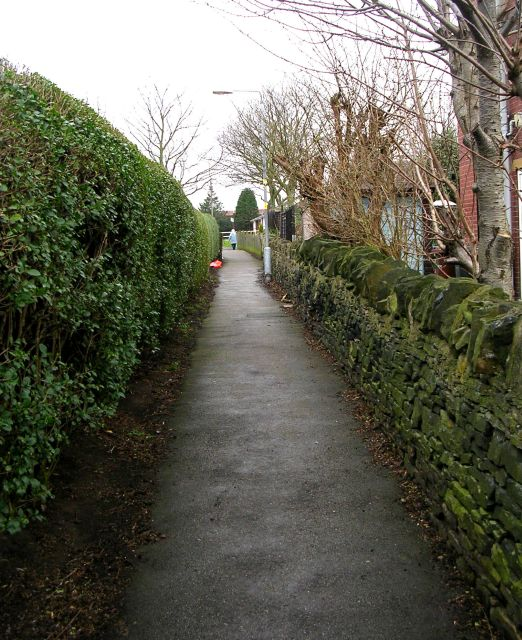 Footpath - Kingsway to Chickenley