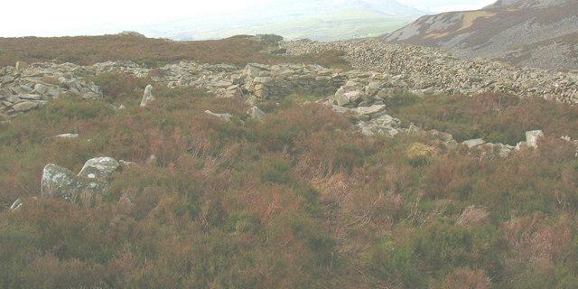 Hut circles at Tre'r Ceiri