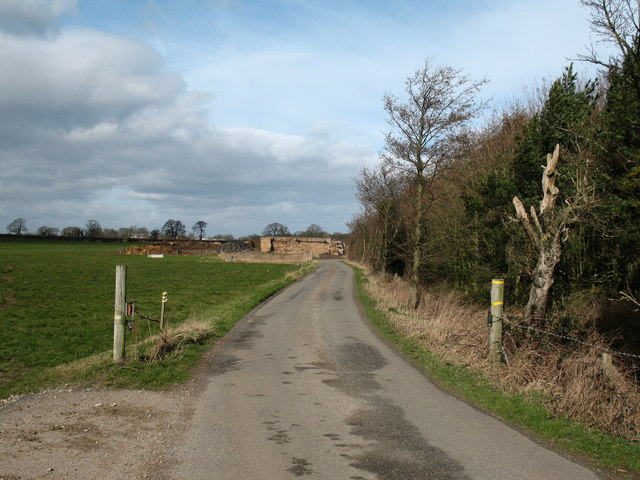 Road to Moss End Farm