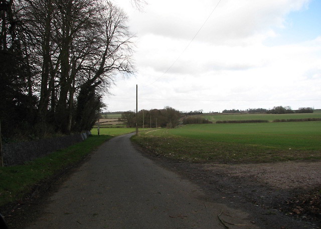 View north along Mill Lane