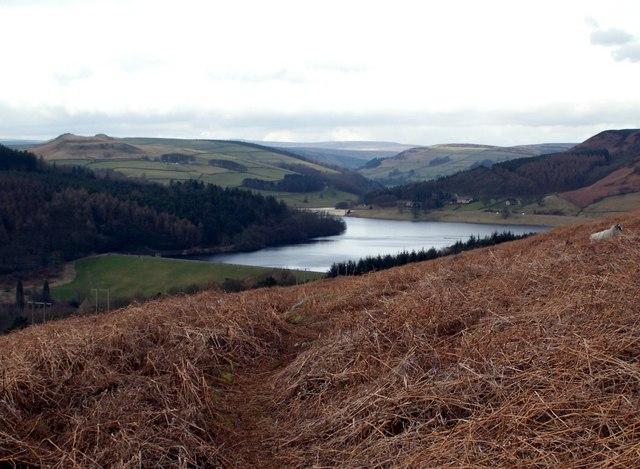 Mooredge looking to Ladybower Reservoir