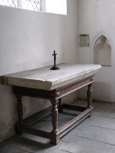 St Mary's church - medieval altar stone