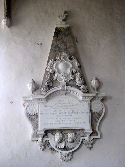St Mary's church - wall monument