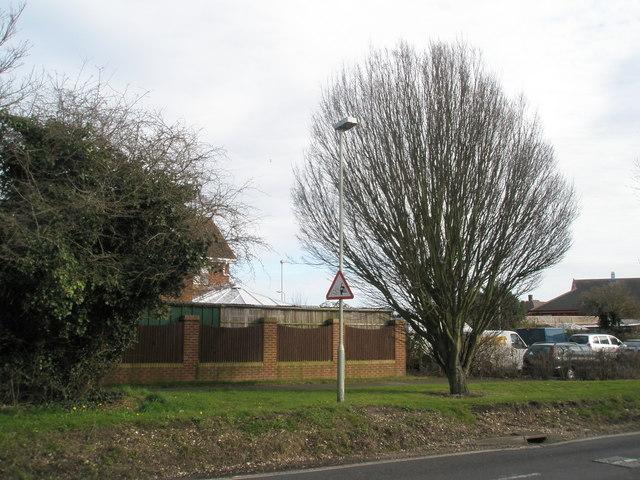 Loose chippings near Hamfield Drive