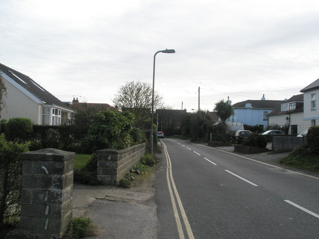 Looking south down West Lane