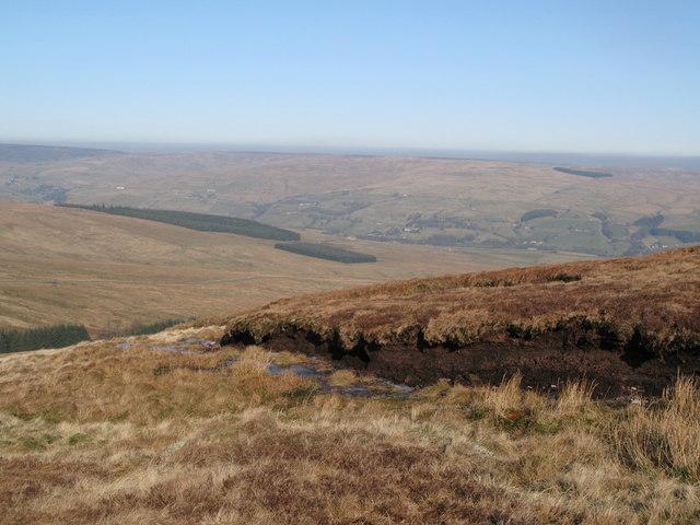 Peat haggs on Chapel Fell