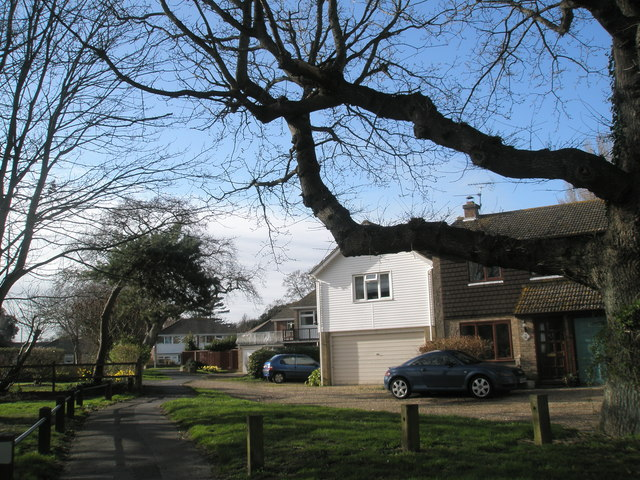 Houses on edge of Hayling Park