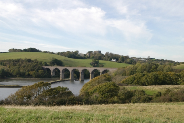 Forder Viaduct and Trematon Castle