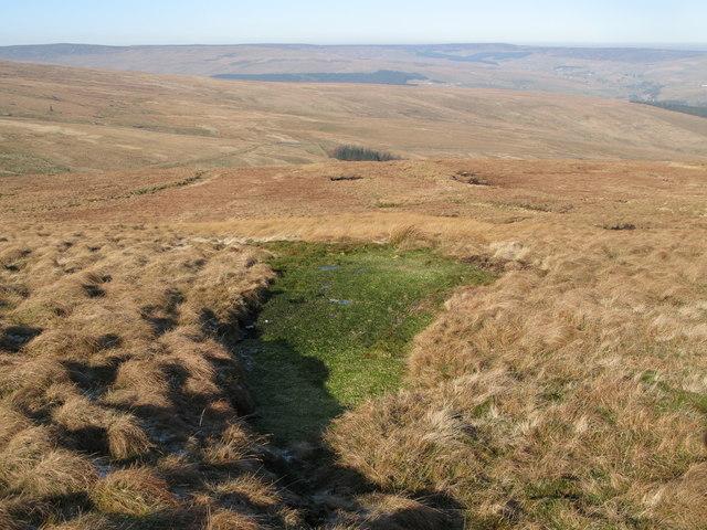 Spongy ground on Chapel Fell