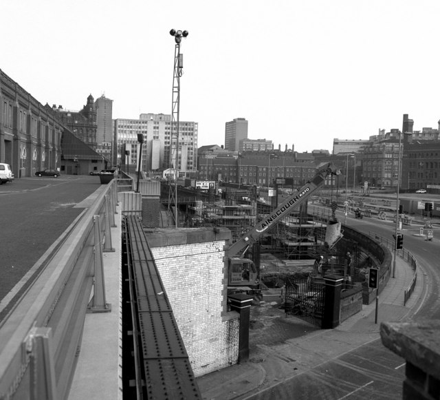 New ramp alongside GMEX, Manchester