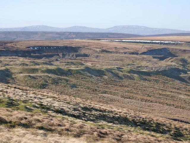 Disused quarry at Harthope Head